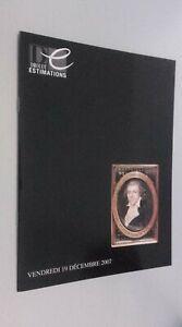 Catálogo De Venta Demuestra Drouot Estimations Vie 19 Diciembre 2007 Buen Estado