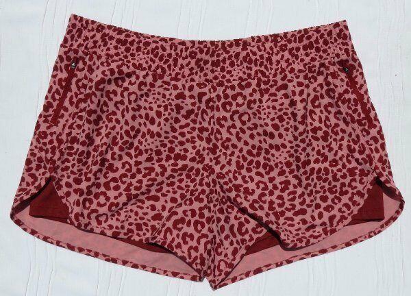 Avia Damen Pink Weinrot Cheetah Tiermuster Laufshorts Sz US XXL 2XG 20