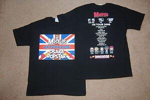 Misfits-Union-Jack-UK-Tour-2006-Osaka-Popstar-camiseta-Medio-Nuevo-Raro-Oficial