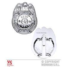 Silver Fancy Dress Police Badge - Copper Policeman Prop