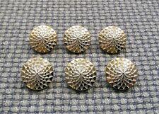 6 x Tono Oro Bianco Bottoni in Metallo Look 16mm Stile Vintage Blazer Cardigan