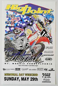 Vintage High Point Nationals 1994 AMA Motocross Poster Jeremy McGrath Honda CR