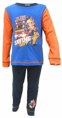 Fireman Sam Toddlers Boys Saving The Day Snuggle Fit Long Pyjamas 18-24 Months