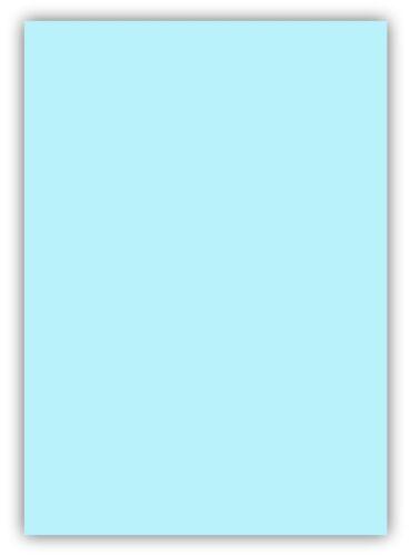 25 Blatt farbiges Premium Briefpapier Caribic DIN A5 Papier-Farbe Blau Hellblau