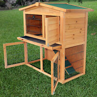 40new A-frame Wood Wooden Rabbit Hutch Small Animal House Pet Cage Chicken Coop on Sale