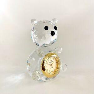 Miniature-Crystal-Bear-Shaped-Clock-Hand-Crafted-Vintage-Shelf-Desk-Decoration