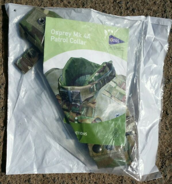 New Sealed RARE British Army MTP Osprey Patrol Collar MK4 MK4a