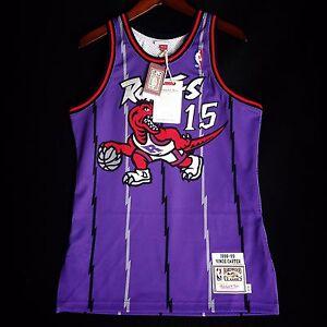 100% Authentic Vince Carter Mitchell   Ness 98 99 Raptors Jersey ... 59e3da85aa54