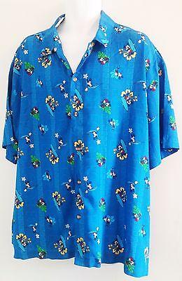 DISNEY Hawaiian Shirt - Mickey Mouse - Disney Store Blue Hawaii - XL