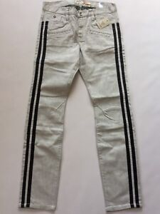 G-By-Guess-Men-039-s-Moto-Inspired-Skinny-Jeans-With-Black-Striped-Sides-Size-32