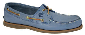 timberland 2 eye boat chaussures blue