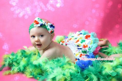 Saint Patrick/'s Day Clover Alfalfa Leaf Newborn Baby Pettiskirt 3pc Set 3-12M