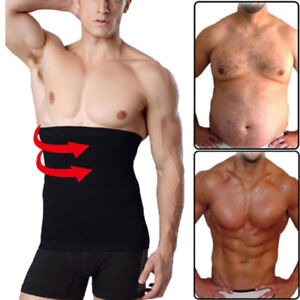 9e256a8e0c Details about Men s Fat Burn Sauna Tummy Control Belt Girdle Belly Waist  Trainer Body Shaper