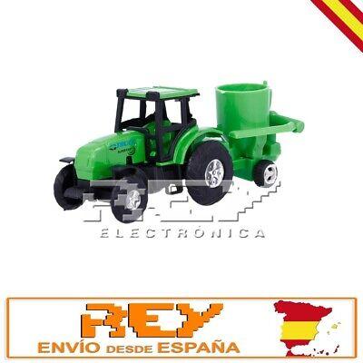 Tractor Remolque Cuba Cemento Colección Vehículos Agrícolas Miniatura j147