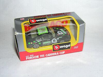1:43 Bburago 4195 Porsche 911 Carrera Cup Più Obsoleto Modello Nuovo Ovp-mostra Il Titolo Originale