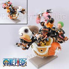 8xOne Piece Mini Merry II Luffy Zoro Sanji Usopp Chopper Franky Brook PVC Figure