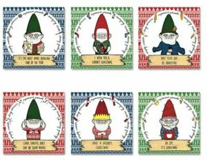 Grumpy-Gnomes-Christmas-Xmas-Cards-Set-of-6-Kitsch-Cute-Bah-Humbug-Presents