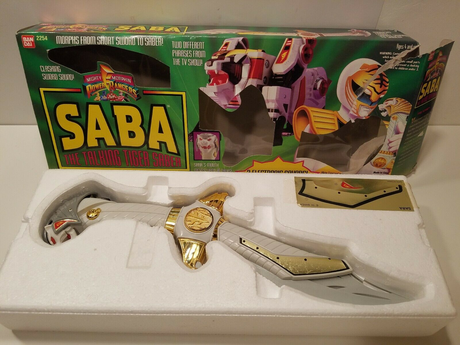 Power Rangers Legacy Saba The Talking Tiger Saber -  With Box  promotions d'équipe