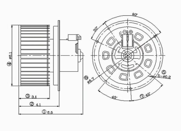 HVAC Blower Motor Front TYC 700099 for sale online | eBayeBay