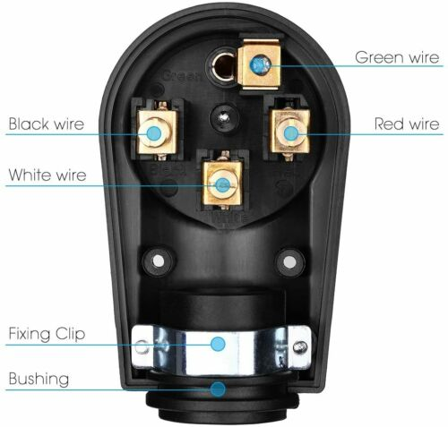 50AMP RV Replacement Male Plug With Easy Unplug Design ETL Certified Automotive