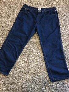 Para Hombre Tyndale F290t Fr Fuego Resistente Al Fuego Frc Jeans Pantalones Vaqueros Azules 44 X 30 Ebay