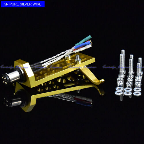 New 20pcs//lot pure silver leadwire CNC machined GOLD anodized SME type Headshell