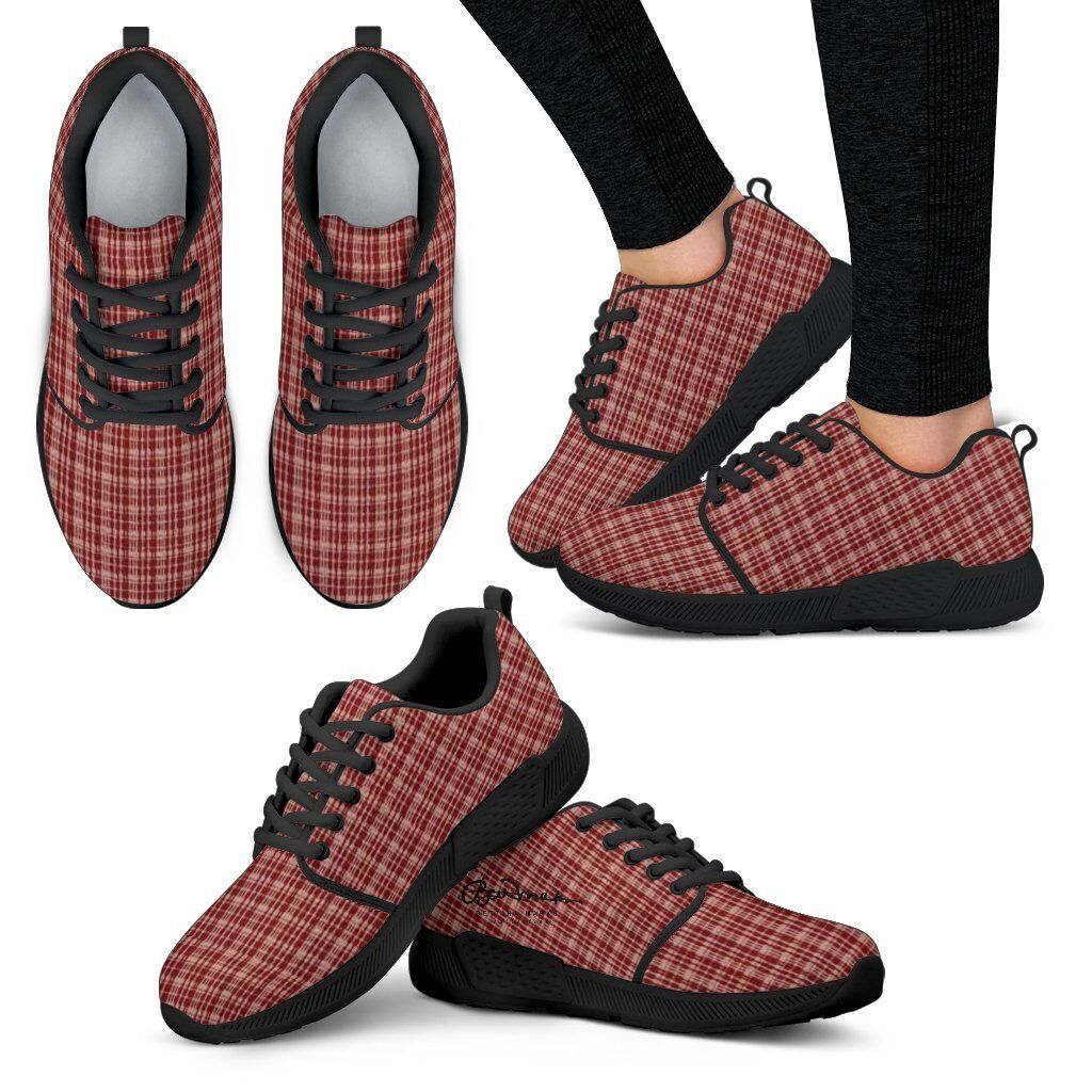Maroon Beige Tight Plaid Athletic Athletic Athletic Sneakers 69a3c0