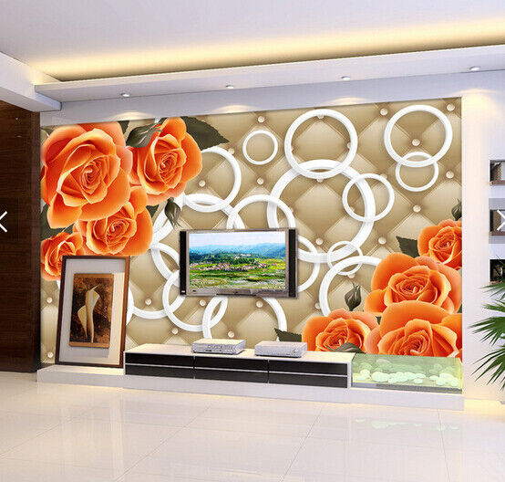 3D orange pinks 77  Wall Paper Murals Wall Print Wall Wallpaper Mural AU Lemon