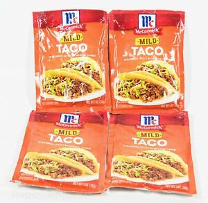 4 Packs Mccormick Mild Taco Seasoning Mix 1oz Per Packet 06 01 2022 52100034935 Ebay