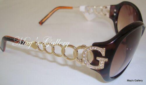 Guess  Jeans Sun Glasses Glass SunGlasses Eyewear  Gold  Brown  GU 6510  W NIB