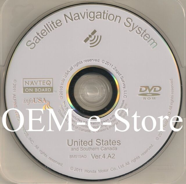 2006 2007 2008 2009 Acura MDX Navigation White DVD Map U.S