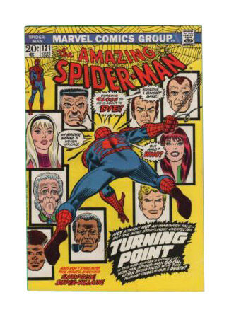 Amazing Spider-Man #121 Beautiful Repro Cover w//Orig Ads Key Death of Gwen Stacy