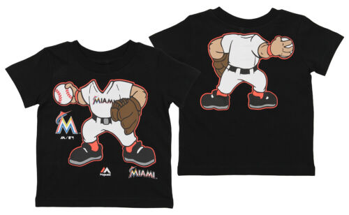 Outerstuff MLB Toddlers Miami Marlins Pint Size Pitcher Short Sleeve Tee