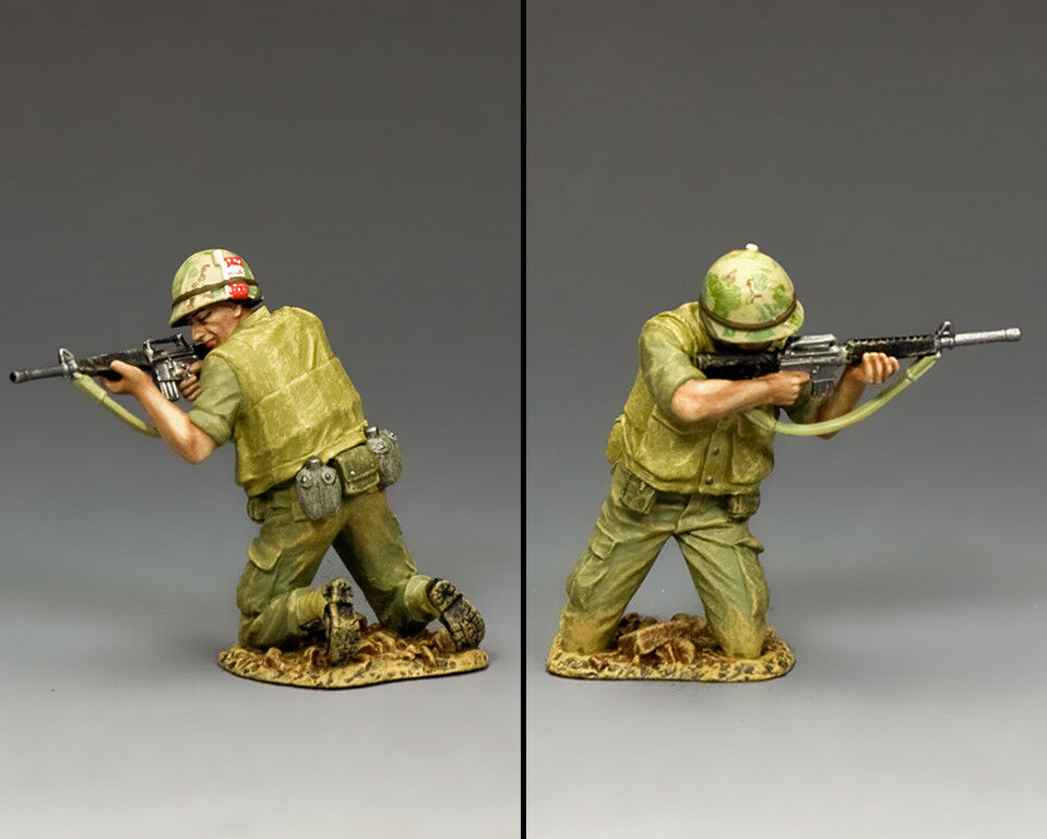 KING & COUNTRY VIETNAM WAR VN011 U.S. MARINE KNEELING FIRING M16 MIB