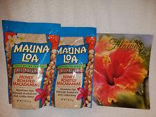 MAUNA LOA HONEY ROASTED MACADAMIA NUTS -TWO 11 OZ BAGS W/ FREE HAWAIIAN CALENDAR