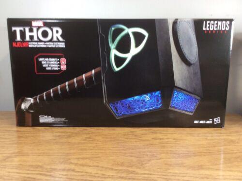 Hasbro Marvel Legends Thor Mjolnir Hammer Electronic Prop Replica In Stock