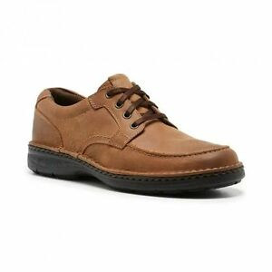 MENS-HUSH-PUPPIES-ROCKS-BROWN-LEATHER-LIGHTWEIGHT-LACE-UP-WORK-CASUAL-SHOES