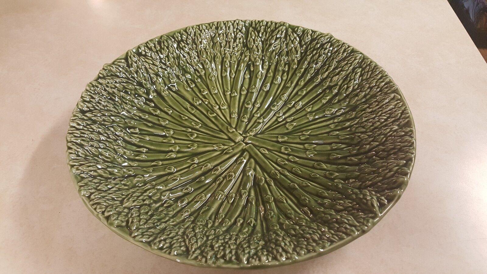Beautiful Ceramic vert Mud Pie Asparagus Platter