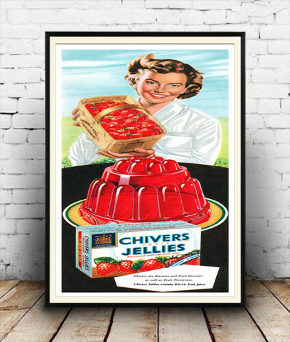 poster reproduction Chivers Jellies Old Magazine Sweets Advertising