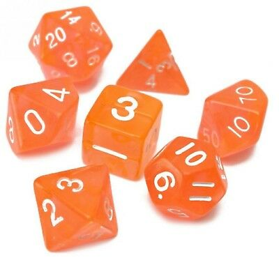 16mm 7 Diversi Geometrica A Forma Di Dadini Mk Board Game Interessante Dadi Arancione-