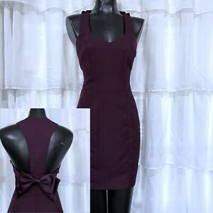 Size 7/8 - Vintage ROBERTA Purple Bow Racerback Sheath Dress