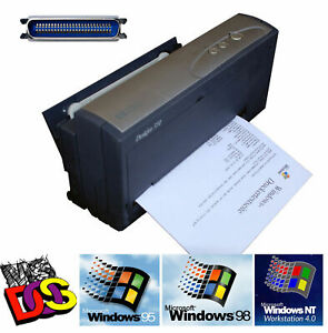 Compact-Mobile-HP-Deskjet-350C-Printer-For-Dos-Windows-NT-2000-Parallel-Cab