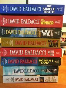 Lot-of-8-DAVID-BALDACCI-John-Puller-Amos-Decker-3PB-5TPB-VGC