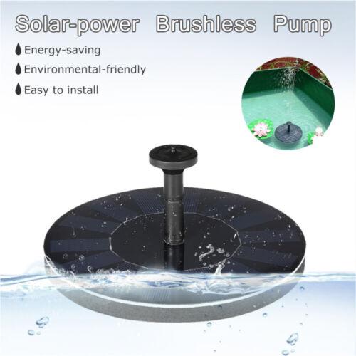 Solar Teichpumpe W 200//h Solarpumpe Gartenteich Pumpenset Springbrunnen Brunnen