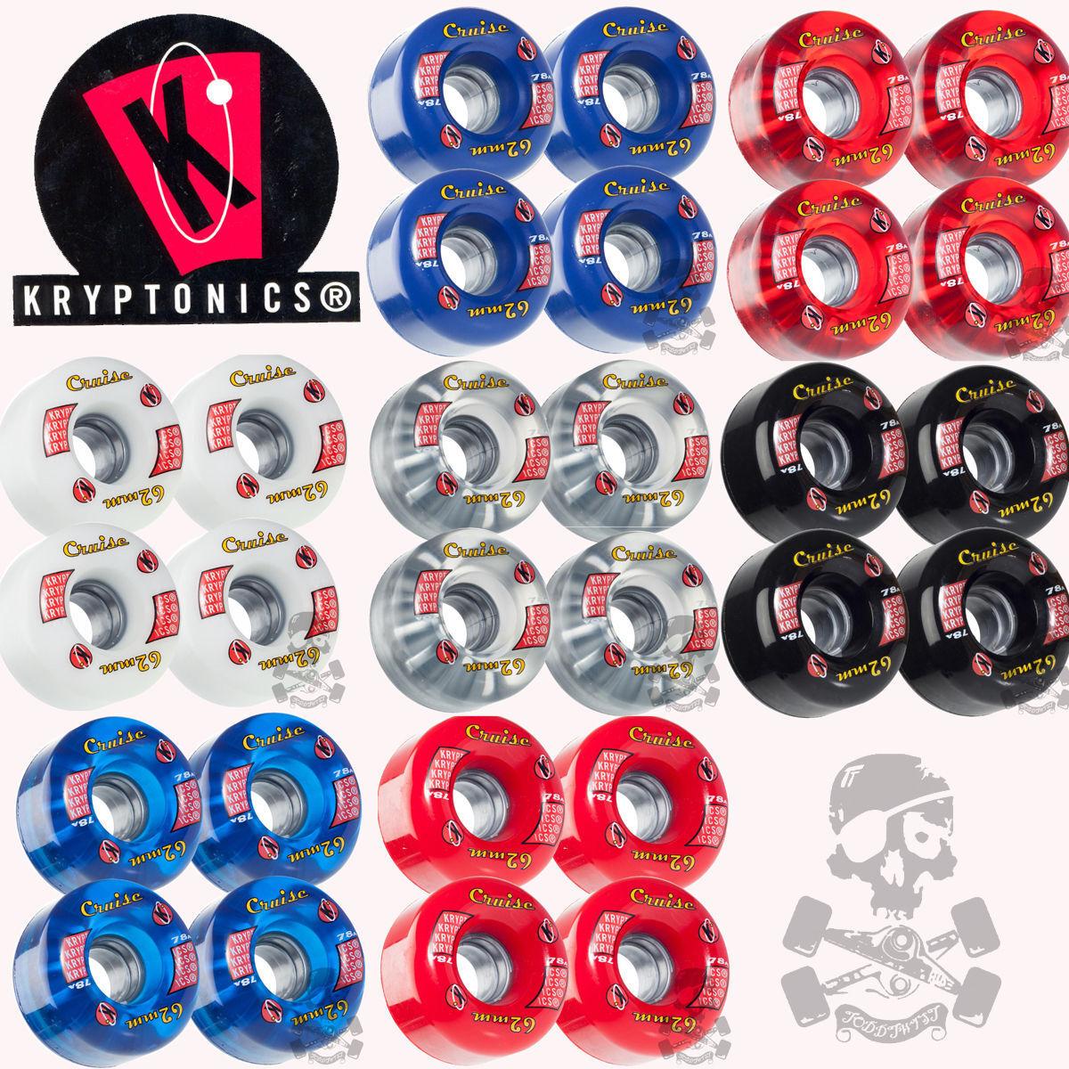 Kryptonics Skateboard Cruise Ruote per Skateboard Kryptonics 62mm, 78a Colori Assortiti Combos 98112c