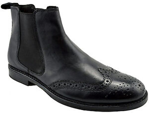 9e9f3436df7 $215 RED Tape Black Leather BOYNE Chelsea Ankle Boots Men Shoes NEW ...