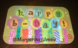 Image Is Loading TARGET HAPPY BIRTHDAY CANDLES GIFT CARD 2008 RARE