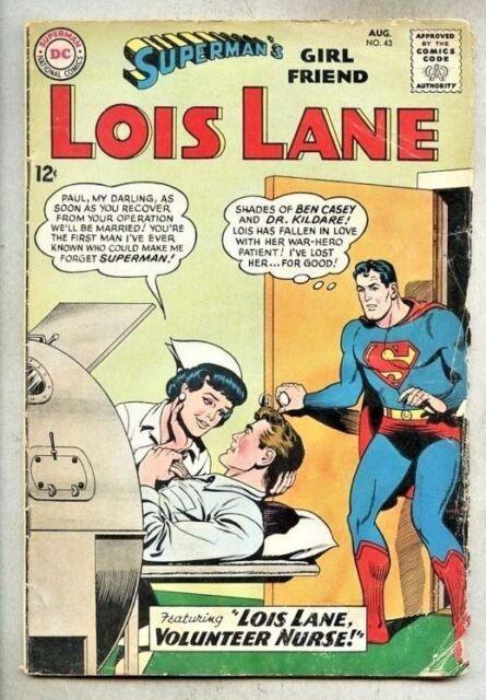 Supermans girl friend lois lane 43 aug 1963 dc ebay supermans girlfriend lois lane 43 1963 luthor thecheapjerseys Image collections