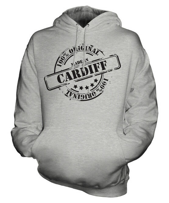 MADE IN CARDIFF UNISEX HOODIE MENS WOMENS LADIES GIFT CHRISTMAS BIRTHDAY 50TH