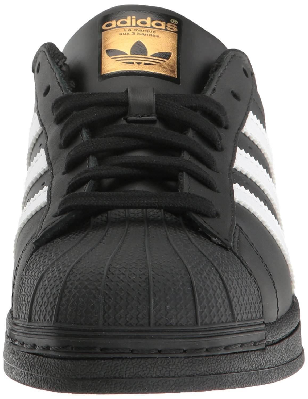 Adidas Originals Mens Superstar Foundation Sneaker Black/White/Gold B27140